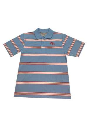 Wadestown School Striped Polo Sky/White/Red