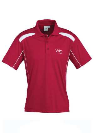 Wadestown Kids United Short Sleeve Polo Red/White